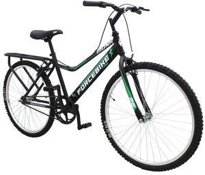 "City Bike ForceBike 26"" Wheel, Black/Green"
