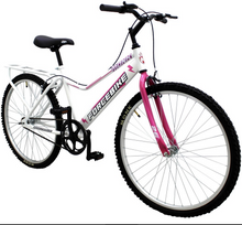 "Load image into Gallery viewer, City Bike ForceBike 26"" Wheel, White/Pink"