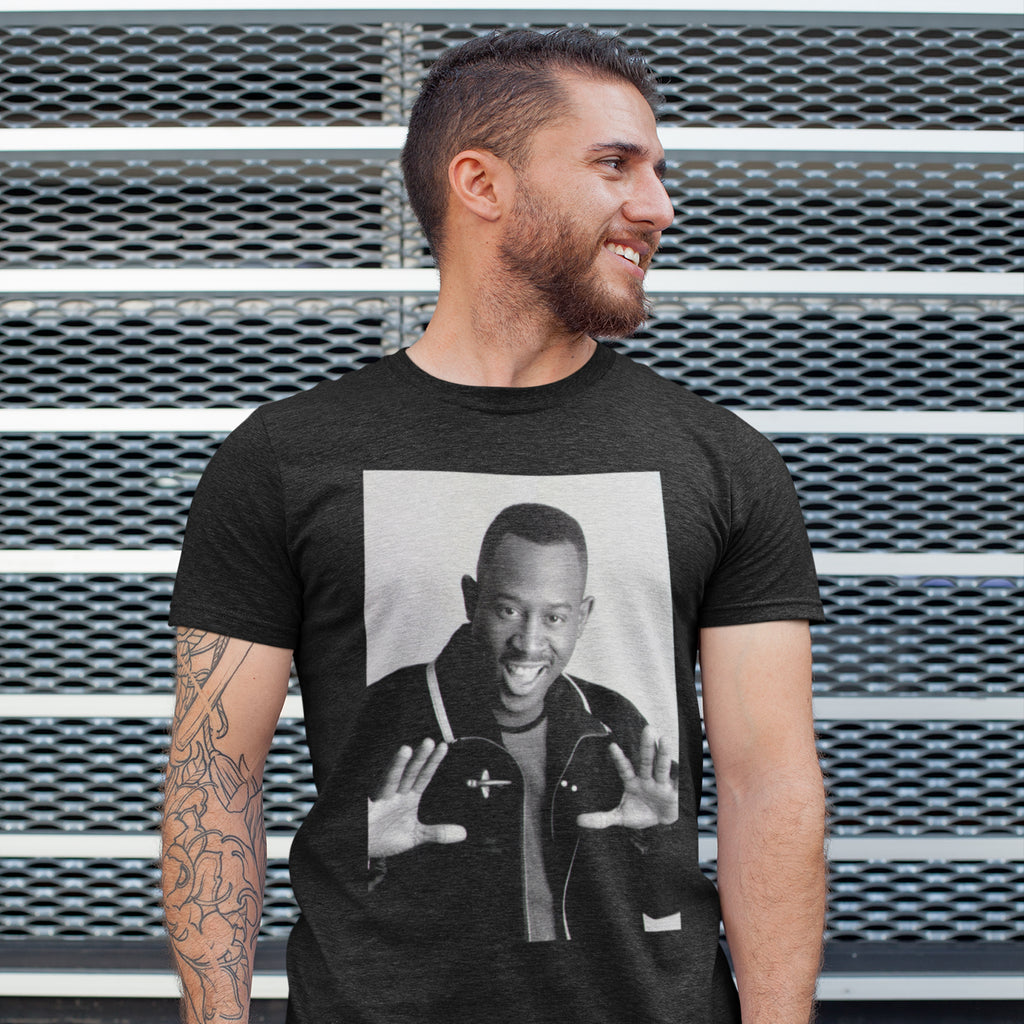 90s Portrait Black T-Shirt