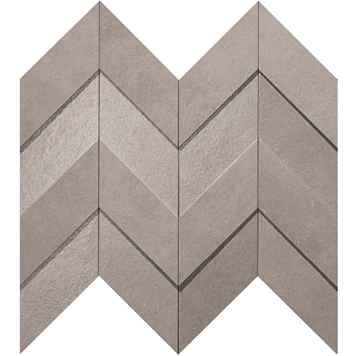 Dwell Gray Chevron 308x351mm 3D Finish Wall Tile (0.43m2 box)