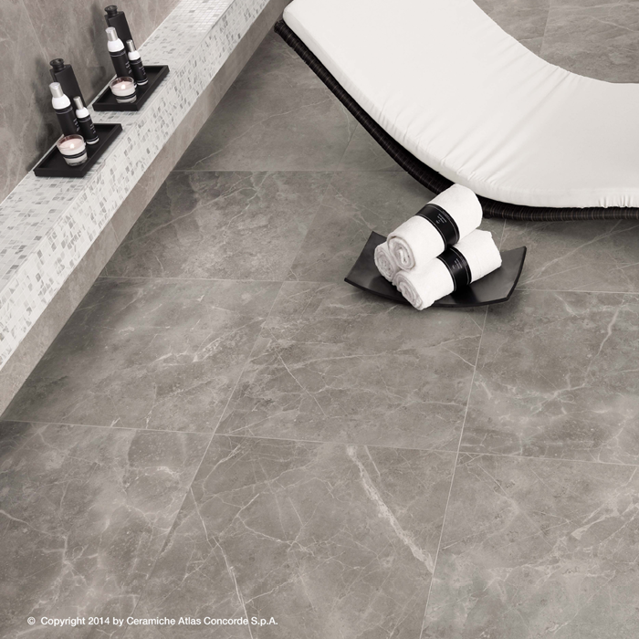 Marvel Pro Grey Fleury 600x600mm Satin Finish Floor Tile (1.08m2 box)