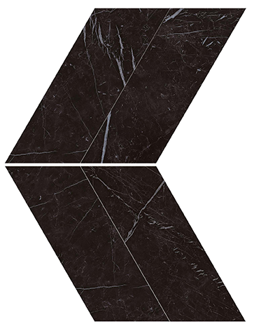 Marvel Stone Nero Marquina Chevron 225x229mm Polished Finish Floor Tile (0.31m2 box)