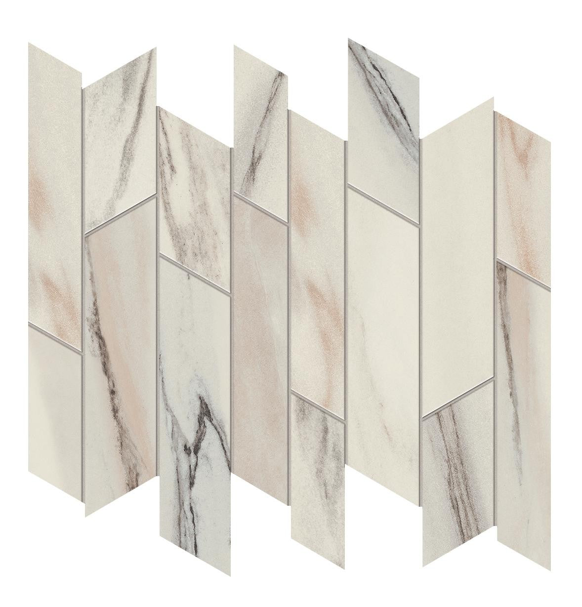 Marvel Dream Bianco Fantastico Liberty 318x261mm Polished Finish Floor Tile (0.49m2 box)