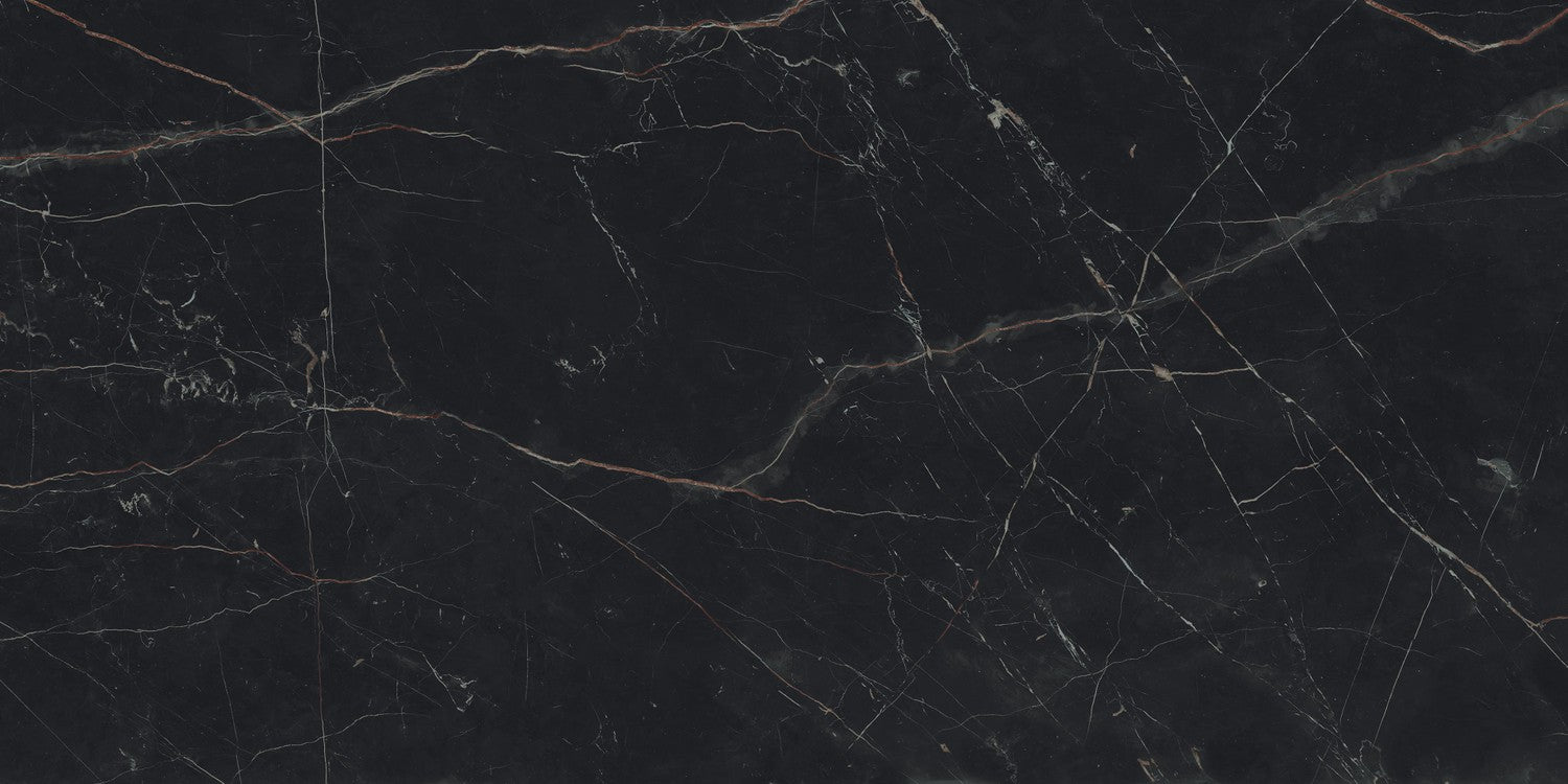 Marvel Dream Black Atlantis 600x1200mm Polished Finish Floor Tile (1.44m2 box)