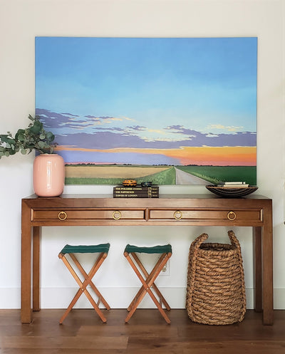How to Style an Entry with Art and Antique Furniture