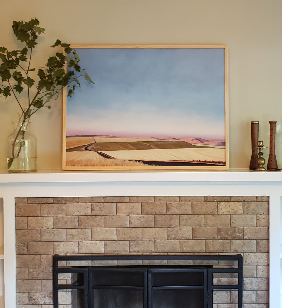 CatherineFreshley_ArtPrintOverFireplace
