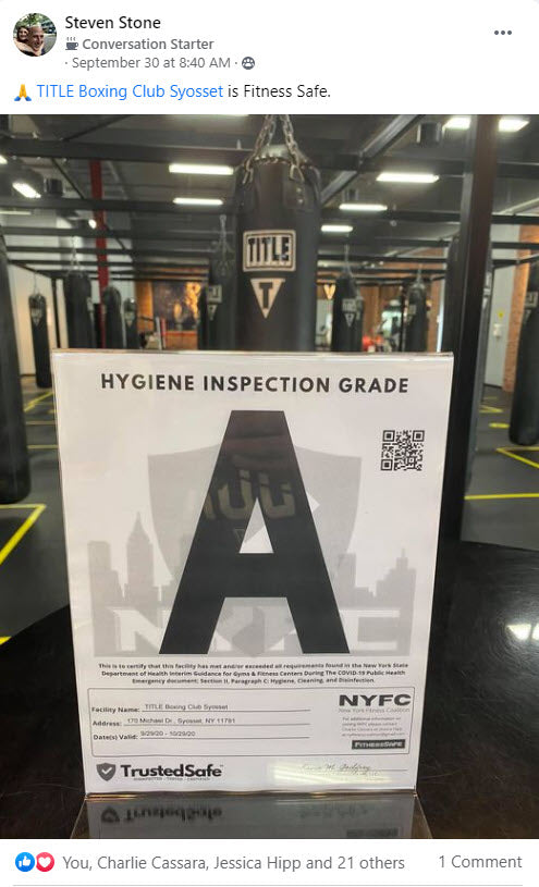 Steve Stone of Title Boxing Syosset, NY reviews Selectrocide 1g 5g Chlorine Dioxide Disinfectant and TrustedSafe Clean-Check Hygiene Testing & Monitoring