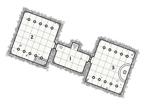 Dungeon 7: The Temple of the Diamond Dragon Map