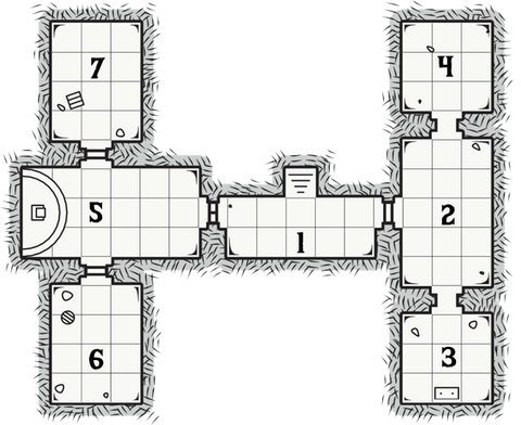 The Tomb of Rai Dungeon Map