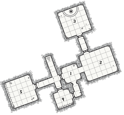 Dungeon 6 - The House of Ice Map