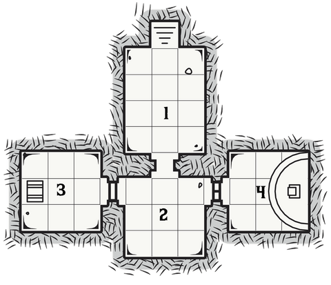 Dungeon 5: The House of Eternal Night Map