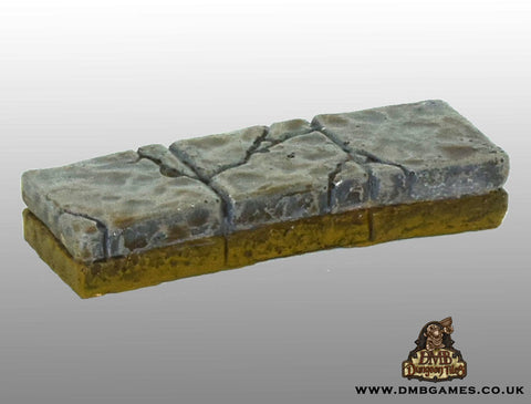 1x3 Floor Tile: Cracked Flagstone