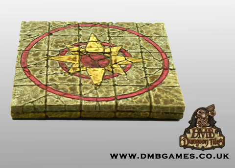 5x5 Floor Tile: Compass Rose