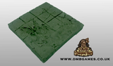 4x4 Floor Tile: Cracked Flagstone with Destroyed Floor Tiles