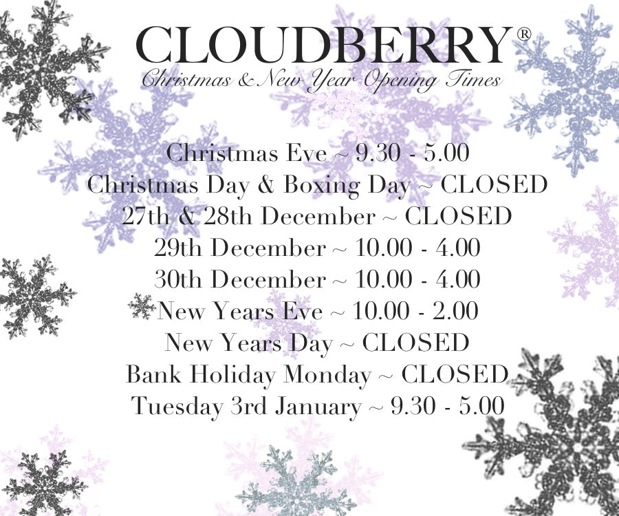 Cloudberry Christmas & New Year Opening Hours