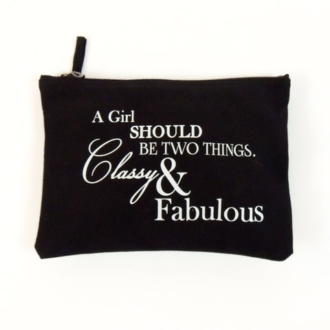 SLOGAN MAKE UP BAG