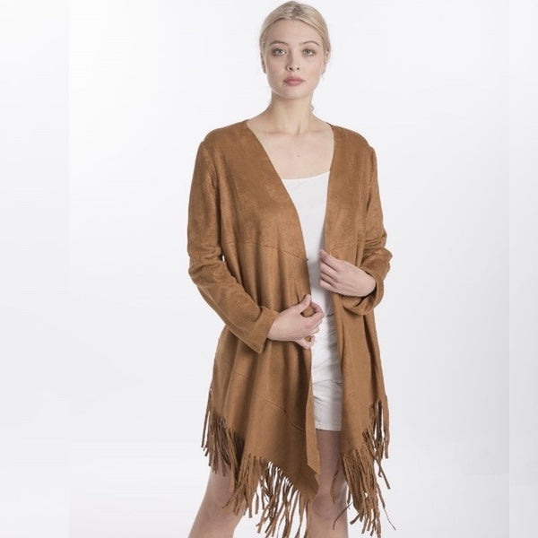 FRINGED COAT