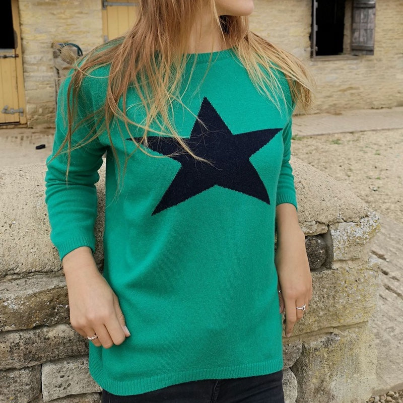 STAR KNIT ~ ROUND NECK