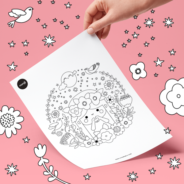 Blossom Colouring Page