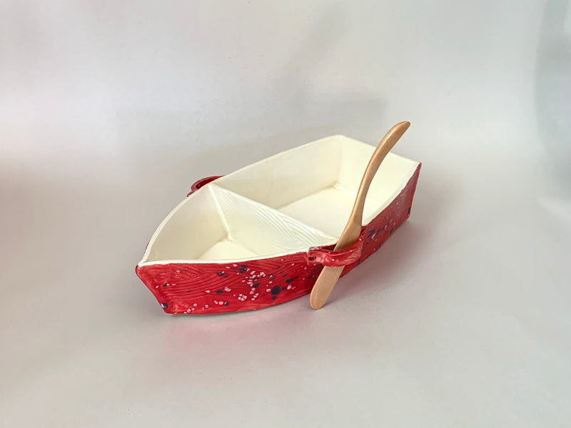 Snack Boat Red/White
