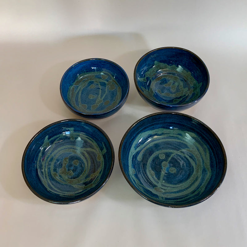 Bowl Blue & Green set of 4