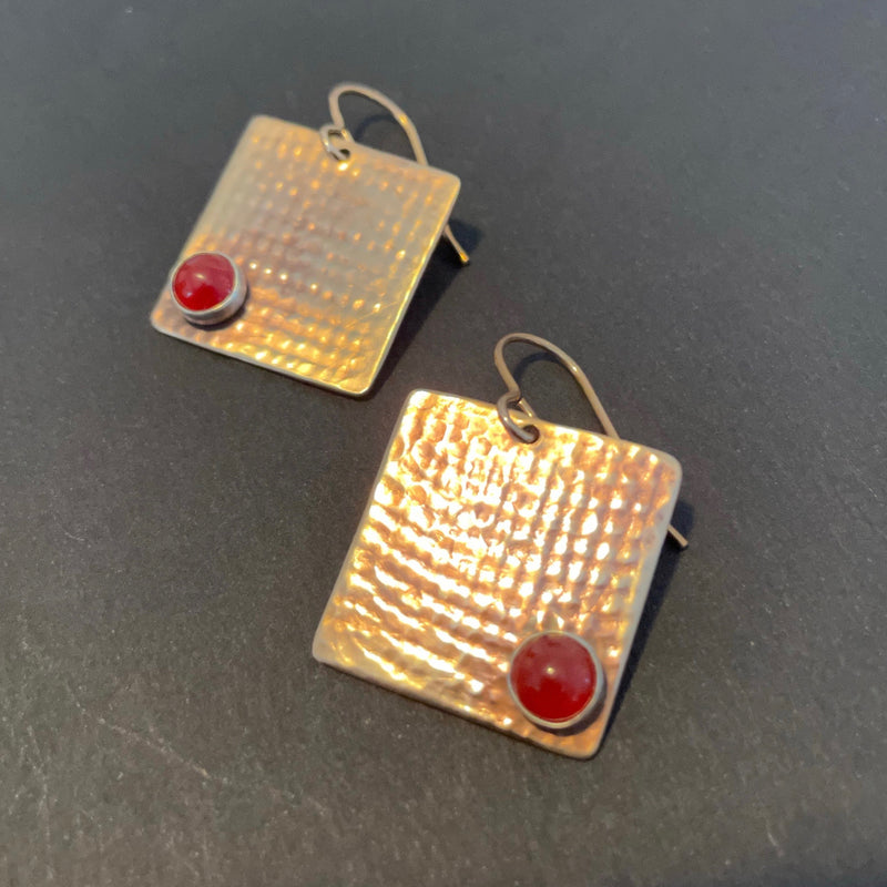 Square Bronze Earrings