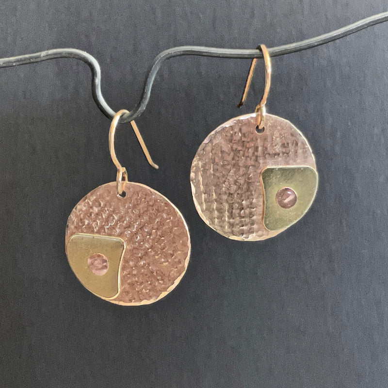 Bronze and Brass Earrings