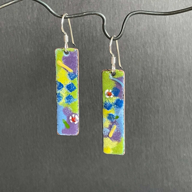 Pastel Enamel Earrings