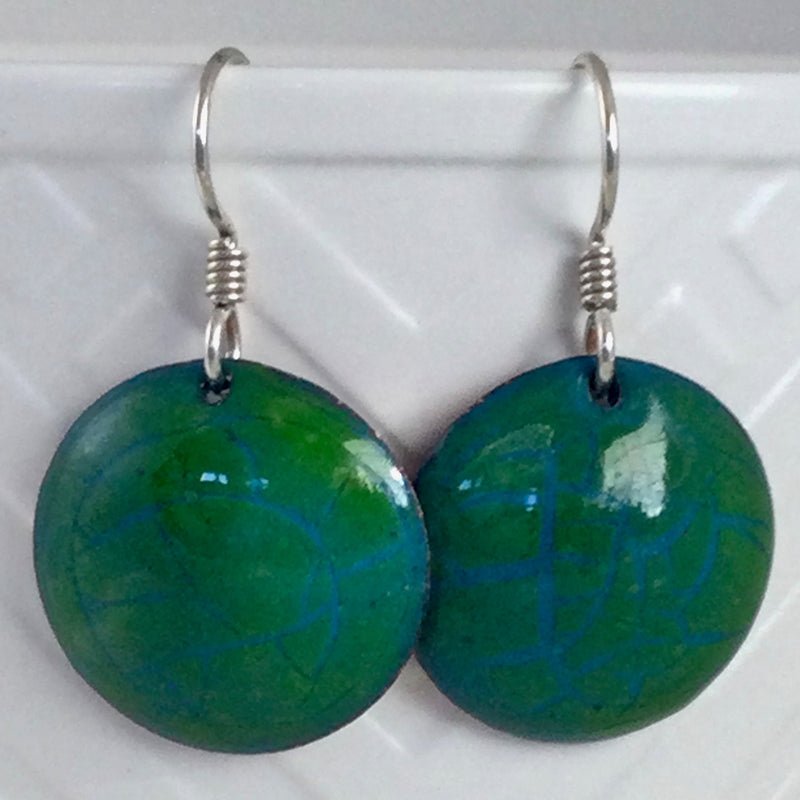 Green Domed Earrings