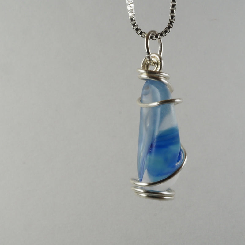 Wire Wrapped Harmony Glass Pendant hg0015