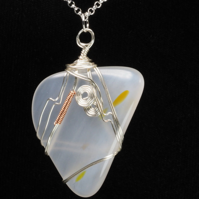 Harmony Glass Wire Wrapped Necklace hg000053