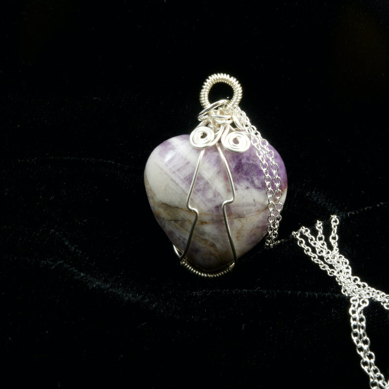 Amethyst Wired Wrapped Heart
