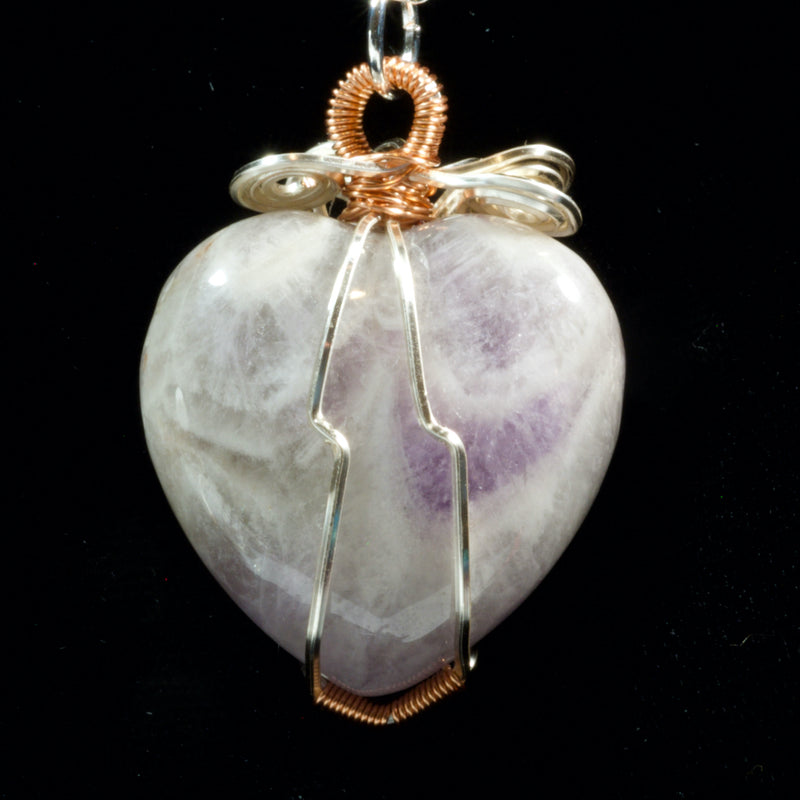 Wire Wrapped Amethyst Heart