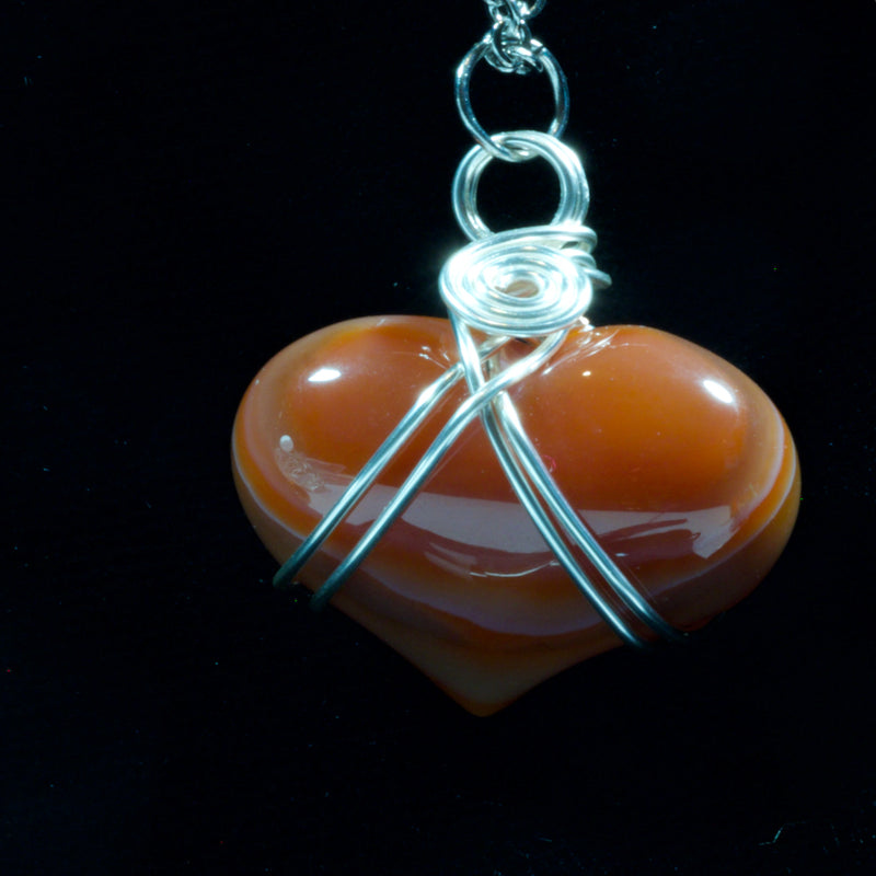Wire Wrapped Agate Heart