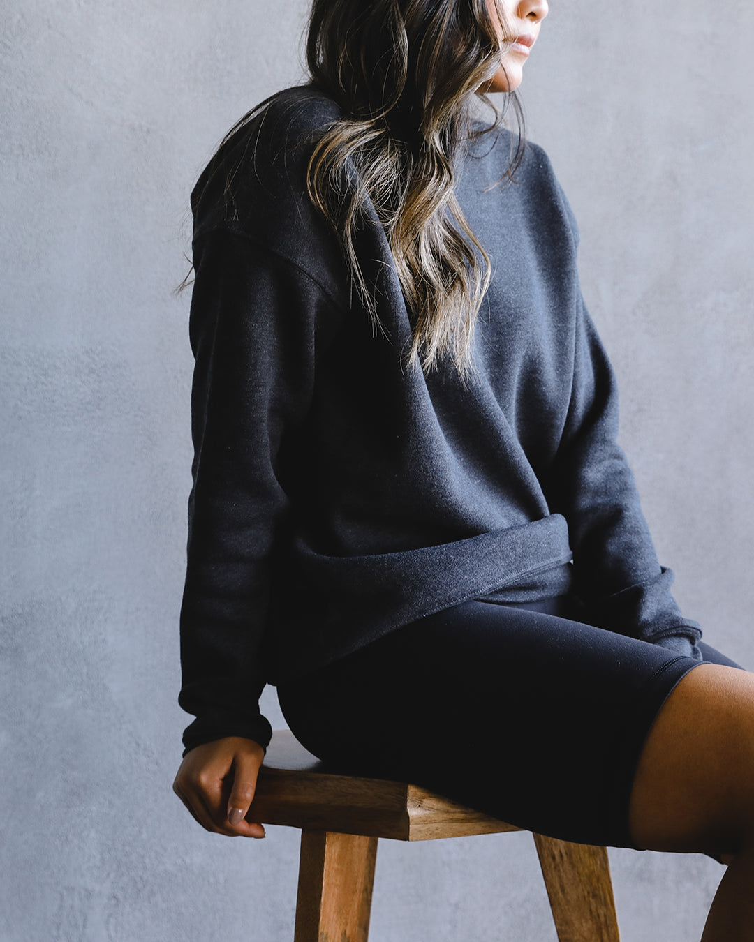 Women's Sweater 001 in Charcoal