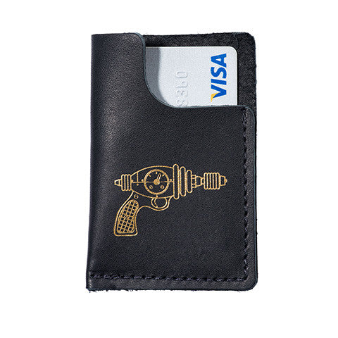 Leather Card Wallet - Raygun - museum of robots