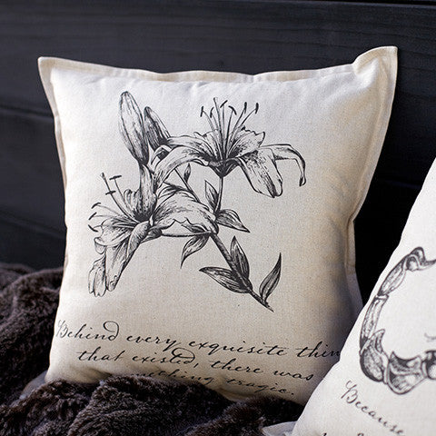 Penny Dreadful Lily Pillow Cover - museum of robots