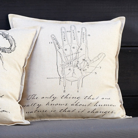 Penny Dreadful Palmistry Pillow Cover - museum of robots