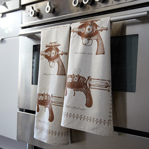 Ray Gun Collection : Tea Towel - museum of robots