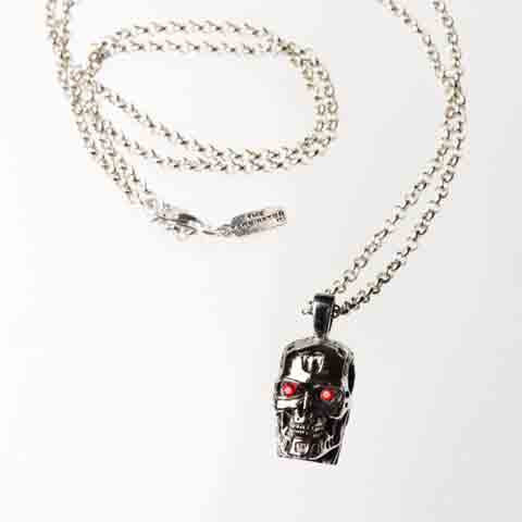 The Terminator T-800 Endoskeleton Skull Pendant - museum of robots