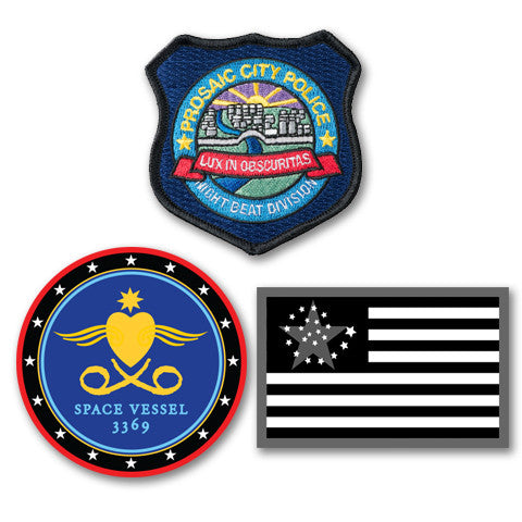 Patch bundle: Prosaic City PD, Outland Crew, AC Flag