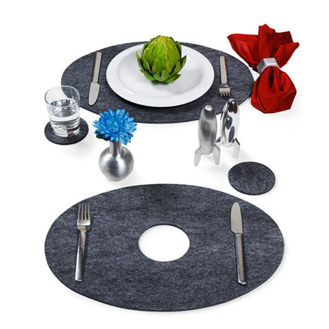 Oval Space Placemats - museum of robots