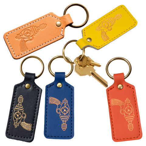 Leather Key Fobs (Rectangular) : RayGuns - museum of robots