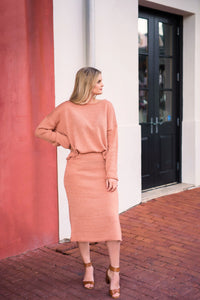 Marseille Clay Sweater Skirt Set