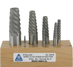 8 Piece Screw Extractor Set