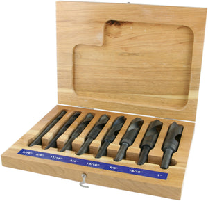 8 Piece Reduced Shank Drill Bit Set