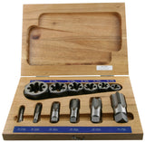 12 Piece Pipe Tap and Hex Die Set
