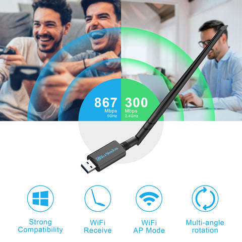 Blueshadow USB Signal Antenna WiFi Adapter 1200Mbps
