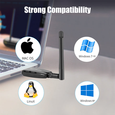 Blueshadaow Bluetooth 4.1 USB WiFi Adapter for PC 1200Mbps
