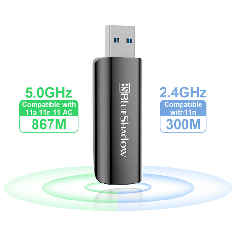 Blueshadow Mini WiFi Adapter 1300Mbps